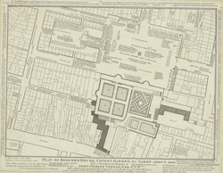 Plan of Bedford House, Covent Garden, &c., taken about 1690 from a drawing in the possession of John Charles Crowle